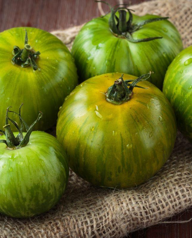 Fresh raw green tomatoes