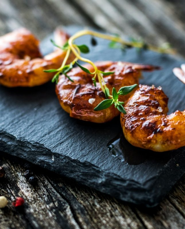 Grilled Honey Soy Shrimp